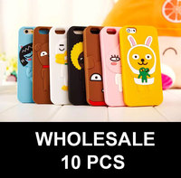 10PCS WHOLESALE 2015 NEW Silicon case for iphone 5 6 PLUS Cute Kakao Friends Soft Case Cover Free shipping
