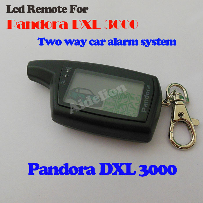 2014 New Free shipping russian version Pandora DXL3000 two way LCD remote starter car alarm system/car remote controller(China (Mainland))
