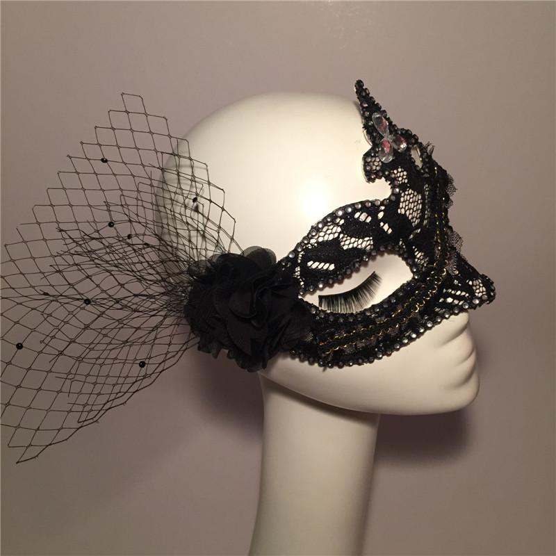 Halloween hot black diamond mesh mask dance party of men and women singers(China (Mainland))