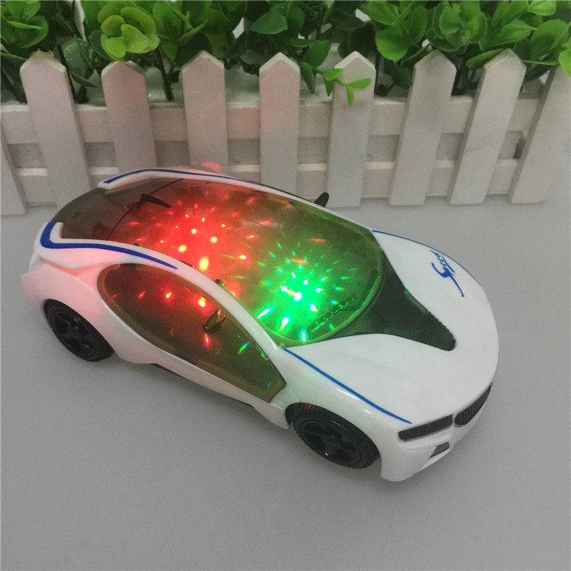 White Car 3D Flash Light Music Electric BMW Car Model Kids Toys Car Collection For Kids Birthday Children's Day Gift(China (Mainland))