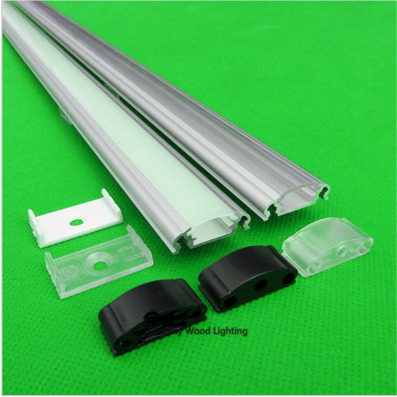 10pcs/lot DHL 40inch 1m led bar light , 12mm pcb led aluminium profile matte clear cover, aluminium channel with rigid strip(China (Mainland))