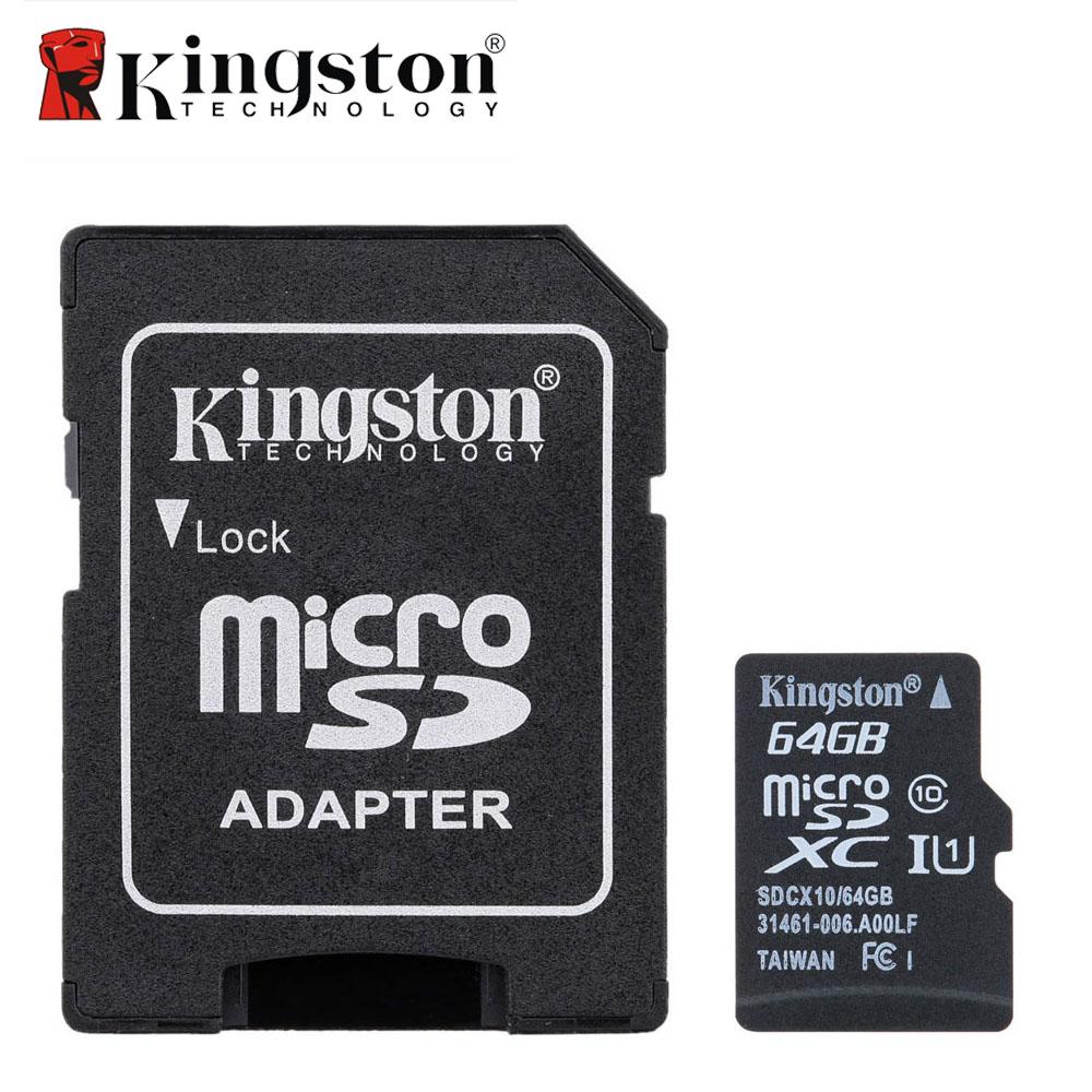 Kingston 8GB 16GB 32GB 64GB Micro SD Card Memory Card with Adapter Class 10 Microsd Cartao de Memoria Tarjeta Micro SD Carte(China (Mainland))