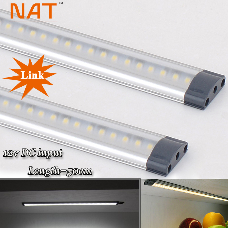 2pcs/lot DC 12v 500mm long 5W LED Kitchen Linear Bar Lights tubes in kichen Cabinet showcase Back Lighting Free Shipping<br><br>Aliexpress
