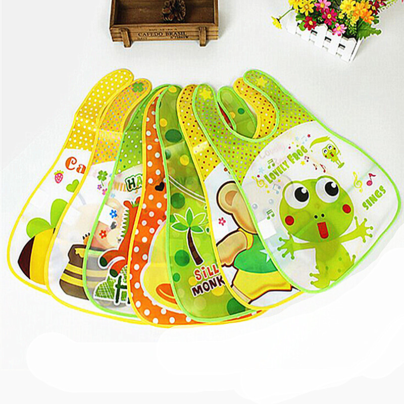 1 Pcs Baby Feeding Saliva Towels Kids Waterproof Bib Infant Bibs Cotton Children Cartoon Accessories Pinafore