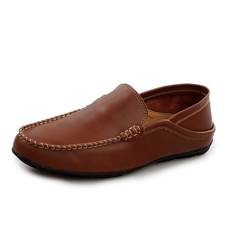 New Men Loafers Genuine Leather Flats Handmade Casual Shoes Formal Business Men Oxford Dress Shoes Slip On Moccasins Soft Zapato(China (Mainland))