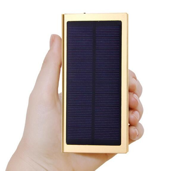 Pannello solare Dual USB Power Bank External Mobile Battery Charger 20000mAh