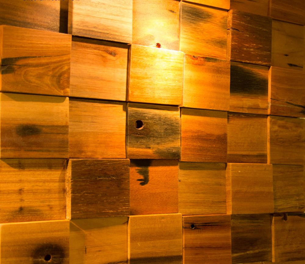 Natural ship wood 3d ancient old boat wooden mosaic tiles for 3d tiles for kitchen wall