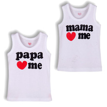 Papa Mama Love Me Baby Children' Clothing T-shirts for girls boys Kids children Clothes tshirts