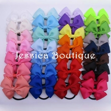 30pcs/lot  Infant Grosgrain Ribbon Bow Headbands Elastic Hair Ties Band Ponytail Holder Bows Hair Accessories For Girls Women