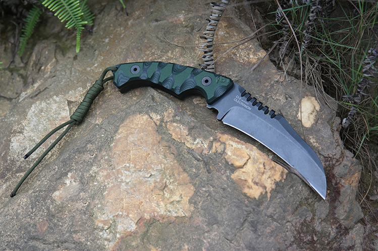 Dark Green G10 Handle Claw Knife, Stone Washing Sharp D2 Blade Fixed Hunting Knife,Nonskid Camping Hunting Survival Knife 988#<br><br>Aliexpress