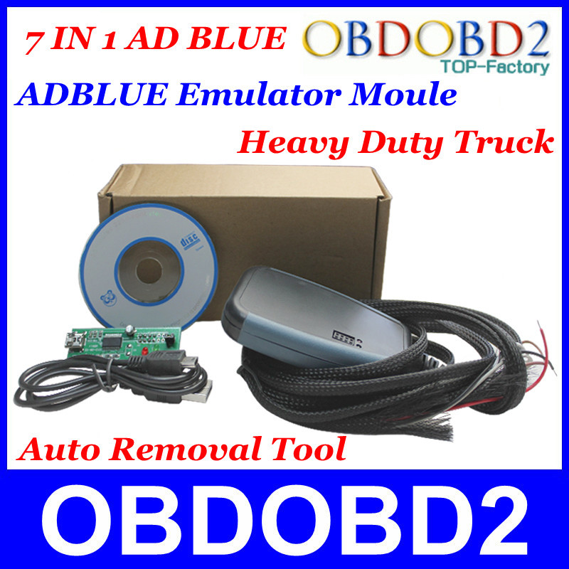 Lowest Price Adblue Emulator For Heavy Duty Truck Ad blue Remover Tool With Programming Adapters 7In1 Best Quality Post Shipping(China (Mainland))