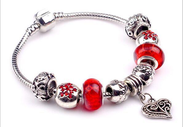 2015 European style charm beads fit Pandora purple style bracelet for women free Valentine's Day gift(China (Mainland))