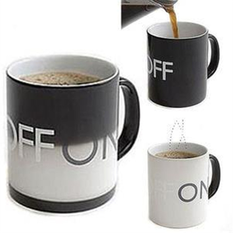 Creative Magic ON OFF Temperature Discoloration Cup Heat Milk Cup Ceramic Coffee Mug Tea Water Cups Copos My Bottle Tazas Cafe(China (Mainland))