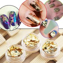 1pc gold foil paper gold and silver luxury fashion nail decoration nail supplies phototherapy armor Stickers