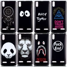 Panda Tiger Soft TPU Silicone Phone Case For Lenovo K3 / Lemon K30-T A6000 Cases 5.0″ Back Cover Skin Protect Shock Proof Bags