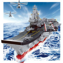 Legoe Compatible Sluban Helicopter Destroyer Aircraft Carrier Antisubmarine Cruiser Ship Plane DIY Children Building Blocks Sets