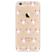 animal Soft TPU Silicone Phone Case Cover For Apple iPhone 6 6S Plus Back Cases
