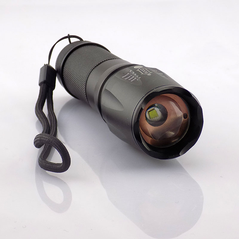 Cree T6 Led Flashlight Camping Zoomable Flash Torch Lamp Light Zoom Aaa Battery Or 18650 Battery 2000Lm Hunting Linternas
