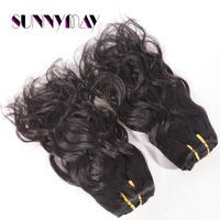 "Stock Natural Wave 7a Malaysian Virgin Hair  Natural Color Human Hair Extension 8""-10"" In Stock"