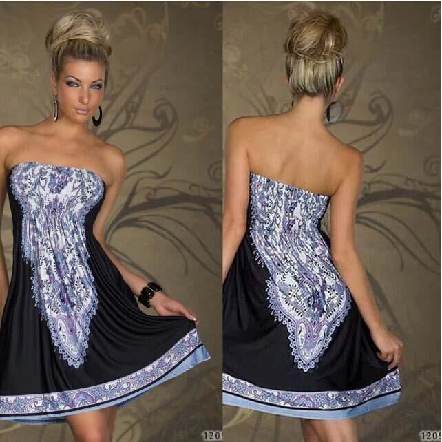 2015 desigual dress Fashion Women vestidos Print V Neck Hippie Bohemian Summer style Dress Women sexy Beach A-Line Dresses(China (Mainland))