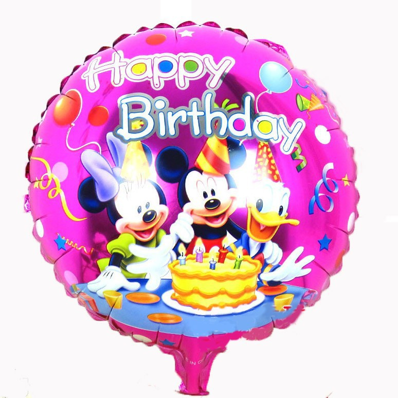 18 inches New Cartoon Round Foil Mickey Mouse Balloons,Child Birthday Party Decoration,Fairy tales(China (Mainland))