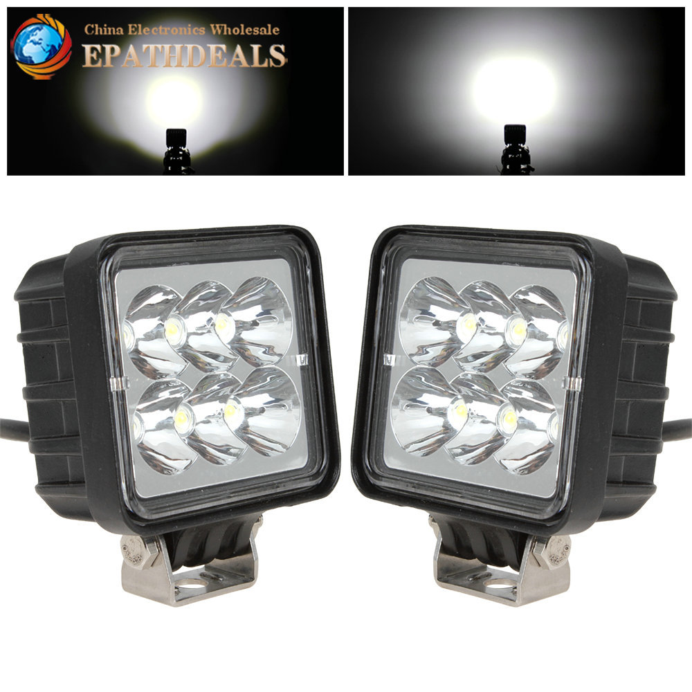 2pcs/pair! 3 Inch 12V / 24V 18W LED Work Light Lamp Waterproof 6000K Off road LED Worklight for Tractor Boat 4WD Offroad SUV ATV(China (Mainland))