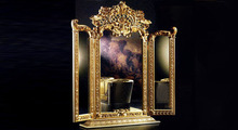 Luxury Golden Engraved Mirror European Style Imperial Bathroom Bedroom Decor(China (Mainland))