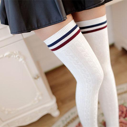 [해외]1 Pair Fashion Thigh High Over the Knee Long Cotto..