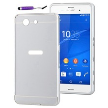 Buy TUKE Z3 Mini / Z3 Compact Frame Case Luxury Slim Metal Aluminum Frame Acrylic Back Cover Sony Xperia Z3 Compact Phone Case for $4.00 in AliExpress store