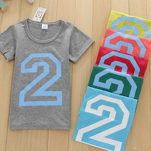 Digital pattern Short Sleeve t shirt Children Boys Clothes T-Shirts For Girls Boys t shirts Kids Baby Children's Clothing solid