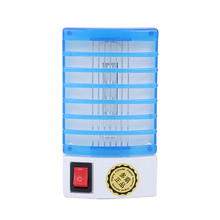 1Pcs New LED Electric Mosquito Killer Night Lamp Fly Bug Insect Trap Zapper Reppller Free Shipping(China (Mainland))