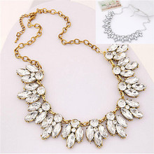 Fashion Jewelry Women Bohemian Crystal Necklace Chain Choker Bid Statement Chunky Necklace