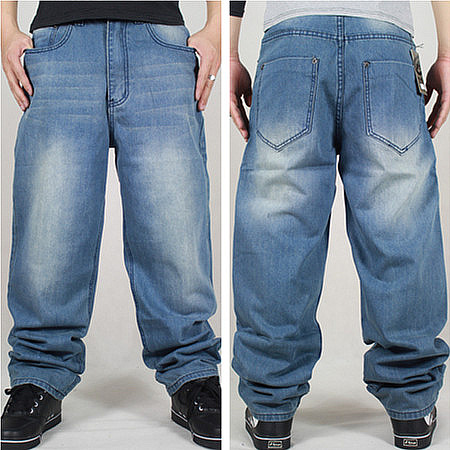 Baggy Light Blue Jeans Light Blue 30 46 Jeans Men