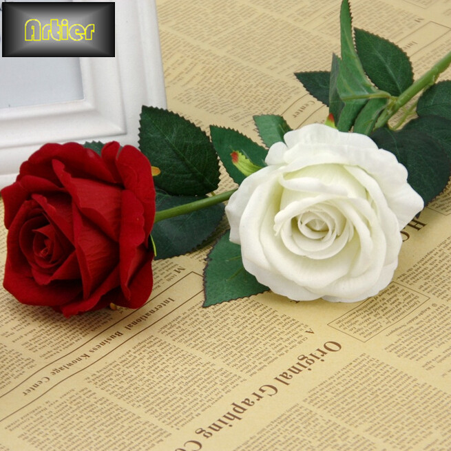 Simulation rose wedding supplies high-grade rose velvet artificial flower home furnishing decoration AD0051(China (Mainland))