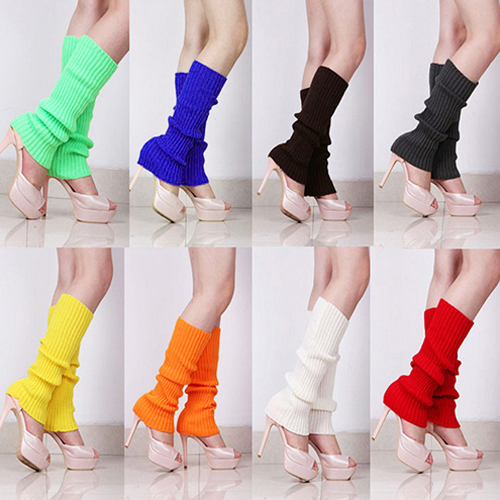 Women Solid Color Knit Winter Leg Warmers Knee High Legging Boot StockingsОдежда и ак�е��уары<br><br><br>Aliexpress