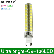 Buy 4pcs/lot G9 LED Bulb SMD 5730 G9 LED lamp 136LEDs 220V/110V Chandelier lampada Replace Halogen light dimmable led corn lamp for $12.36 in AliExpress store