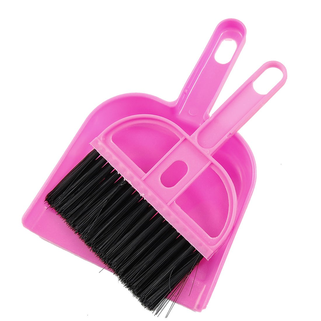 5 Pcs Wholesale Amico Office Home Car Cleaning Mini Whisk Broom Dustpan Set Pink Black(China (Mainland))