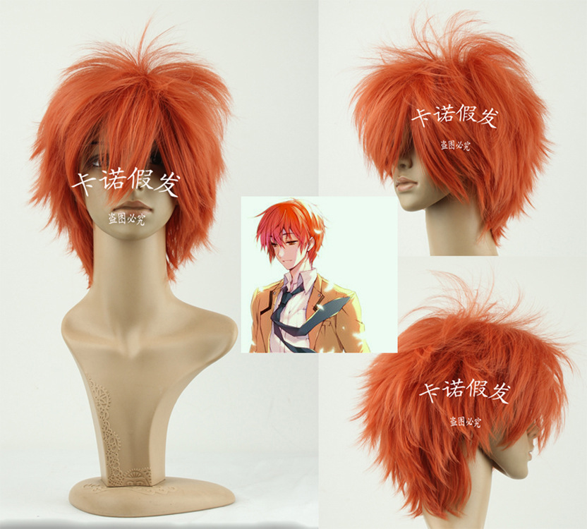 Гаджет  Special wholesale sales series cosplay wig orange Mens high temperature imitation silk short hair None Изготовление под заказ
