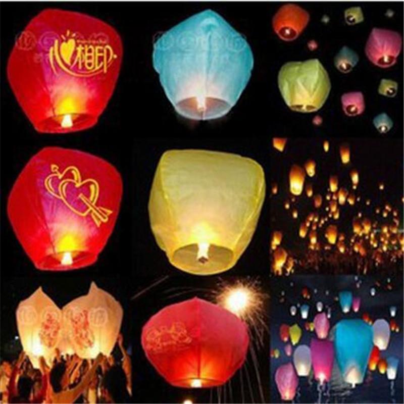 new 10pcs christmas Balao SKY Kong Ming Balloons Wishing Lanterns Flying Light Halloween Globos Chinese Sky Lantern Air balloon(China (Mainland))