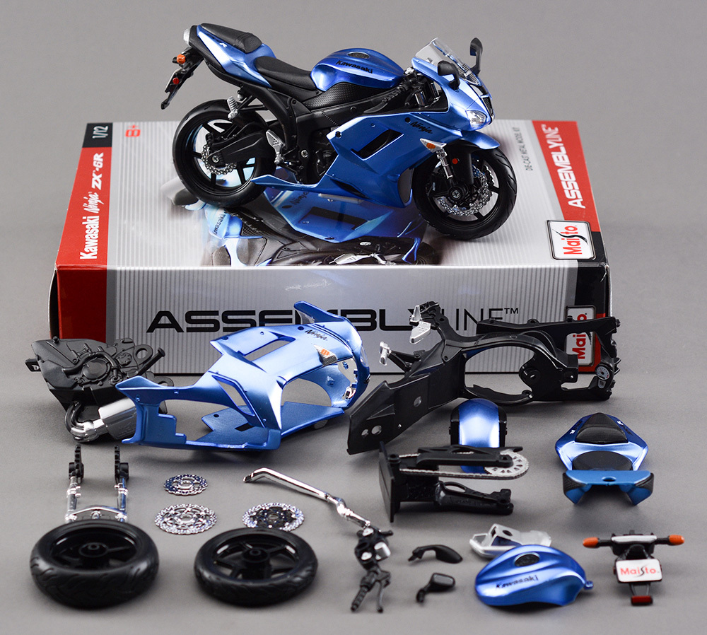 "KAWASAKI ZX 6R 1:12 ""Ninja"" assembled model of motorcycle assembly model(China (Mainland))"