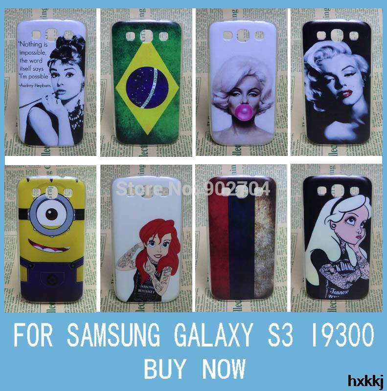 For Samsung Galaxy S3 I9300 Case Aztec Russia Brazil Flag Despicable Me Marilyn Monroe Audrey Hepburn Hard Cell Phone Case(China (Mainland))