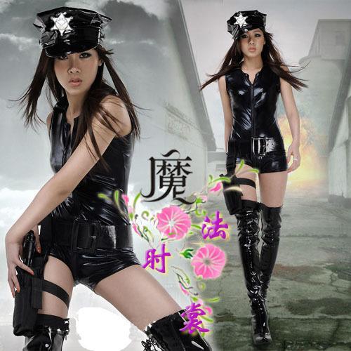 Style jumpsuit female police uniform costume promotion party celebration perform(China (Mainland))