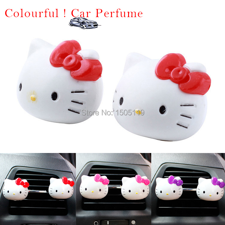 Hot Sales Air Freshener Perfume Diffuser for Car Perfume Holder Plastic Hello Kitty Air Freshener Cleaner In Car Free Shipping(China (Mainland))