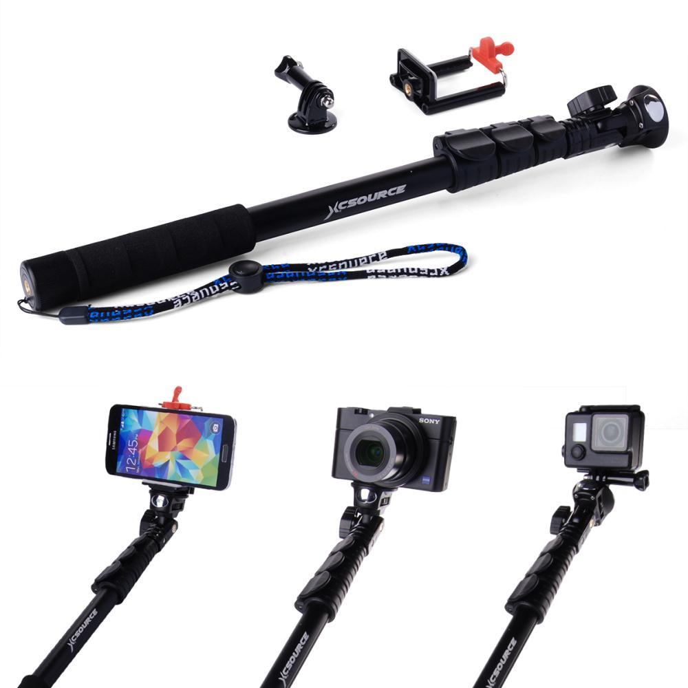 extendable self selfie stick handheld monopod tripod clip holder for camera i. Black Bedroom Furniture Sets. Home Design Ideas