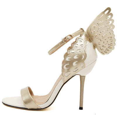 2017 Sophia Webster Butterfly Wings Women High Heels Bowtie Summer Shoes Sandals Woman Pointed Toe Ankle Strap Shoes Pumps