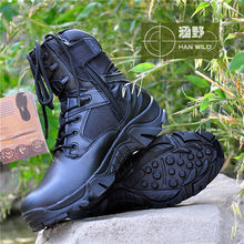 High quality men Tactical Police Military army Boots with Zipper snow shoe 2015 military boots
