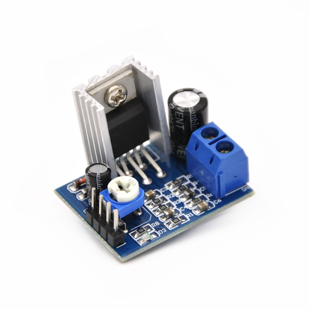F125 Free Shipping 6-12V Single Power Supply TDA2030A Audio Amplifier Board Module(China (Mainland))