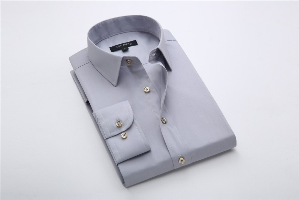 The new 2016 white shirts men's long sleeve shirt, cultivate one's morality package mail business professional dress shirt(China (Mainland))