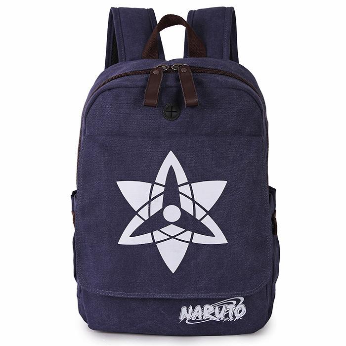 Naruto Backpack Japan Anime Canvas Naruto Sasuke School Bag Write Round Eyes Kakashi Computer Bag Anime Bag Naruto Backpack(China (Mainland))
