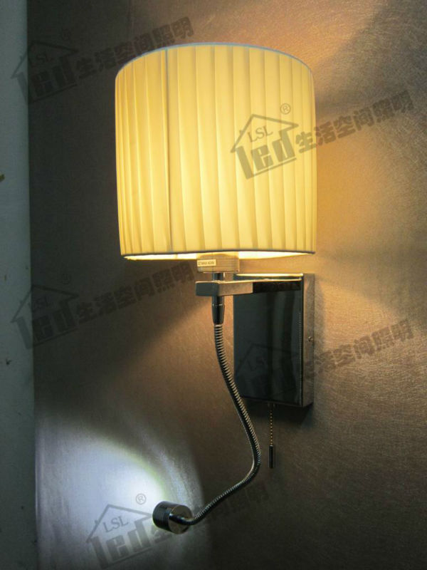 AC85-265V Adjustable Bedroom Lighting/4 Stages Switch Design/Color&amp;Shape Fabric Shade Optional/Version with wall plug available <br><br>Aliexpress